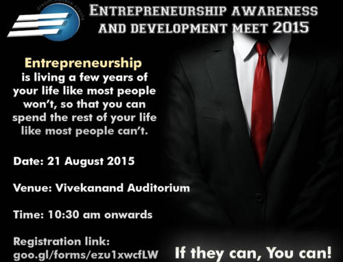 Entrepreneurship Awareness and Development Meet 2015 Poster